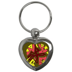 Abstract design Key Chains (Heart)