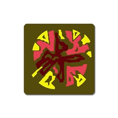 Abstract design Square Magnet
