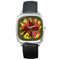 Abstract design Square Metal Watch