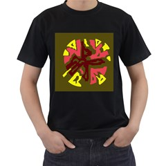 Abstract design Men s T-Shirt (Black) (Two Sided)