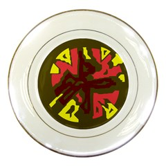 Abstract design Porcelain Plates