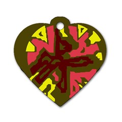 Abstract design Dog Tag Heart (Two Sides)