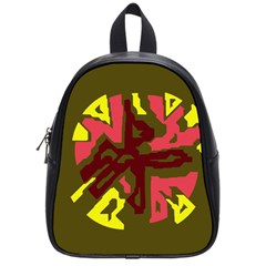 Abstract design School Bags (Small)