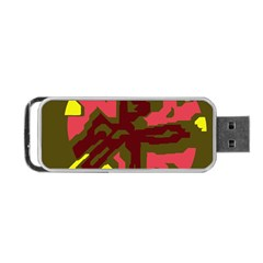 Abstract design Portable USB Flash (One Side)