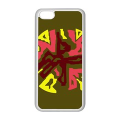Abstract design Apple iPhone 5C Seamless Case (White)