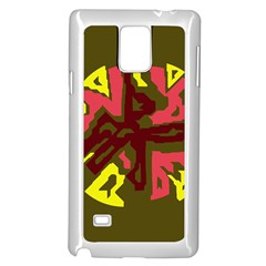 Abstract design Samsung Galaxy Note 4 Case (White)