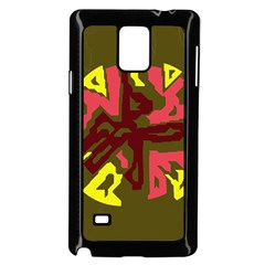 Abstract design Samsung Galaxy Note 4 Case (Black)