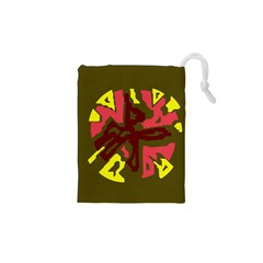 Abstract design Drawstring Pouches (XS)
