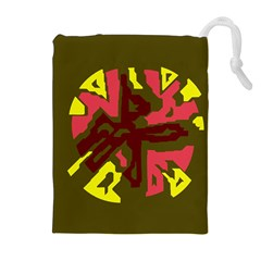 Abstract design Drawstring Pouches (Extra Large)