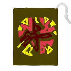 Abstract design Drawstring Pouches (XXL)