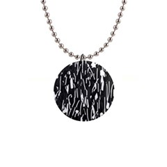Black and white elegant pattern Button Necklaces