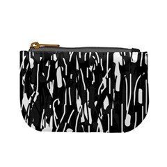Black and white elegant pattern Mini Coin Purses