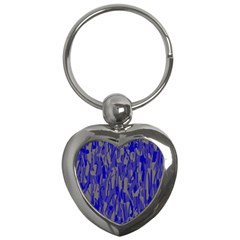 Plue decorative pattern  Key Chains (Heart)