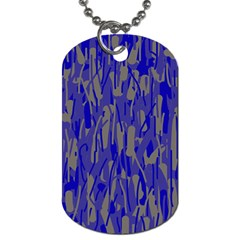 Plue decorative pattern  Dog Tag (One Side)
