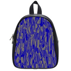 Plue decorative pattern  School Bags (Small)