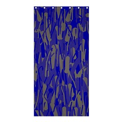 Plue decorative pattern  Shower Curtain 36  x 72  (Stall)