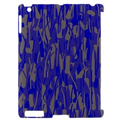 Plue decorative pattern  Apple iPad 2 Hardshell Case (Compatible with Smart Cover)