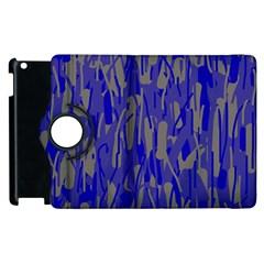 Plue decorative pattern  Apple iPad 3/4 Flip 360 Case