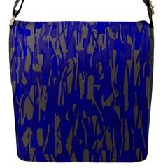 Plue decorative pattern  Flap Messenger Bag (S)