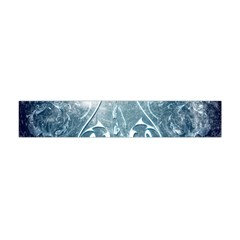Music, Decorative Clef With Floral Elements In Blue Colors Flano Scarf (Mini)