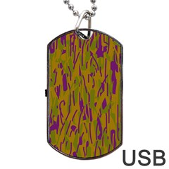 Decorative pattern  Dog Tag USB Flash (Two Sides)