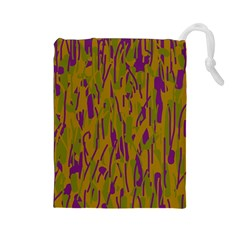 Decorative pattern  Drawstring Pouches (Large)