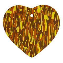 Yellow pattern Ornament (Heart)