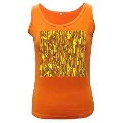Yellow pattern Women s Dark Tank Top