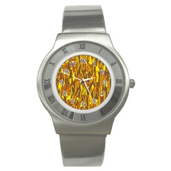 Yellow pattern Stainless Steel Watch