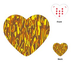 Yellow pattern Playing Cards (Heart)