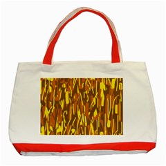 Yellow pattern Classic Tote Bag (Red)