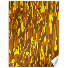 Yellow pattern Canvas 12  x 16