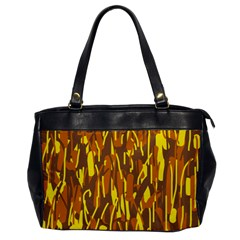 Yellow pattern Office Handbags