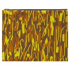 Yellow pattern Cosmetic Bag (XXXL)