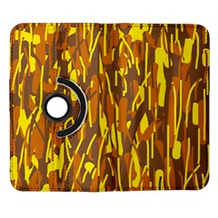 Yellow pattern Samsung Galaxy Note II Flip 360 Case