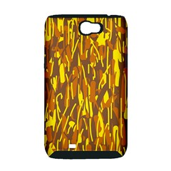 Yellow pattern Samsung Galaxy Note 2 Hardshell Case (PC+Silicone)