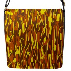 Yellow pattern Flap Messenger Bag (S)