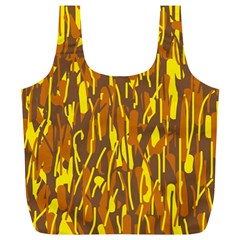 Yellow pattern Full Print Recycle Bags (L)