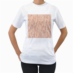 Pink pattern Women s T-Shirt (White) (Two Sided)