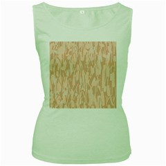 Pink pattern Women s Green Tank Top