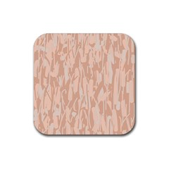 Pink pattern Rubber Square Coaster (4 pack)