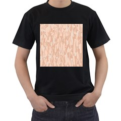 Pink pattern Men s T-Shirt (Black) (Two Sided)