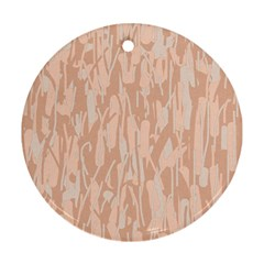Pink pattern Round Ornament (Two Sides)