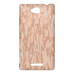 Pink pattern Sony Xperia C (S39H)