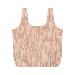 Pink pattern Full Print Recycle Bags (M)