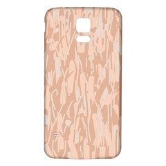 Pink pattern Samsung Galaxy S5 Back Case (White)