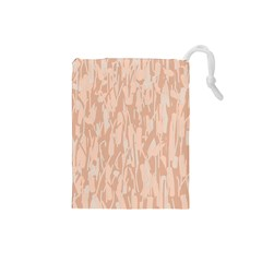 Pink pattern Drawstring Pouches (Small)