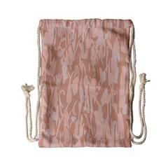 Pink pattern Drawstring Bag (Small)
