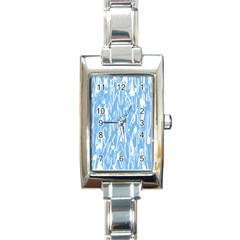 Blue pattern Rectangle Italian Charm Watch