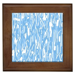 Blue pattern Framed Tiles